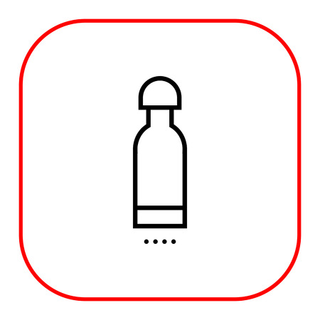 storing: Icon of bottle with cover
