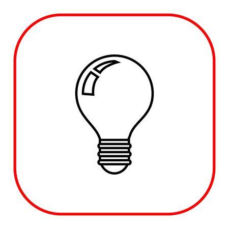 watt: Lightbulb icon, outline Illustration