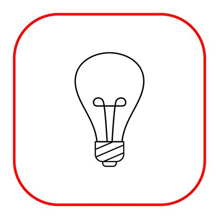 watt: Lightbulb line icon