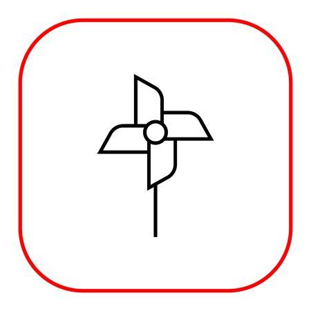 windmill toy: Pinwheel icon