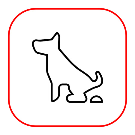 excrement: Icon of pooping dog sign