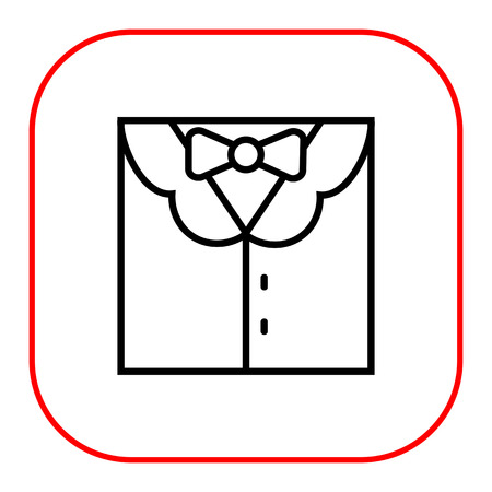 men suit: Icon of men suit with shirt and bow tie Illustration