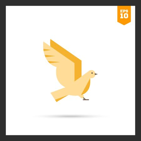 tweeting: Bird icon Illustration