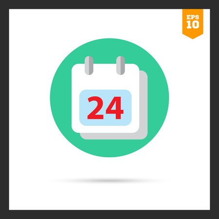 calendar page: Icon of calendar page with date