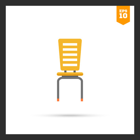 ion: Ion of yellow plastic chair