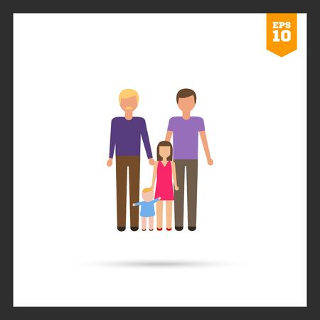 gay men: Icon of gay family consisting of two men and two children