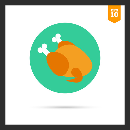 fowl: Icon of chicken fowl