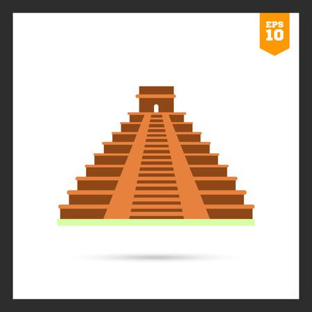 chichen itza: Maya pyramid icon