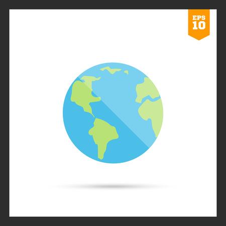 concern: Planet Earth icon Illustration