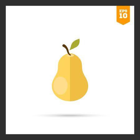 ripe: Ripe pear icon Illustration