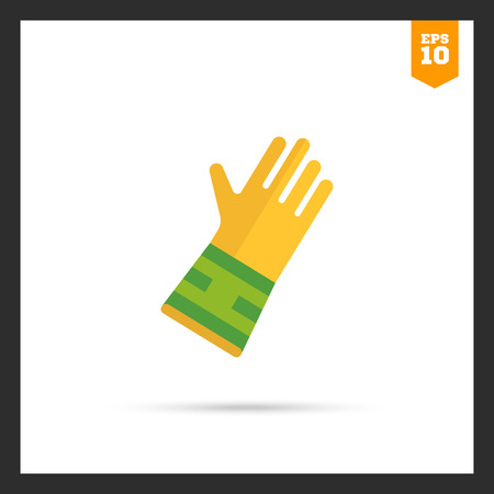 protective: Icon of protective rubber glove