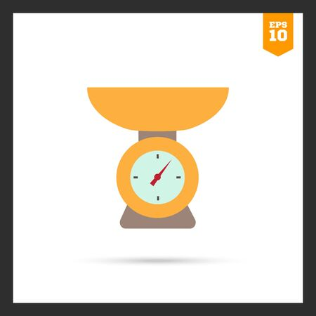 weight scales: Weighing scales icon Illustration
