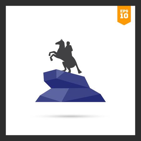 uomo a cavallo: icona del Cavaliere di bronzo statua