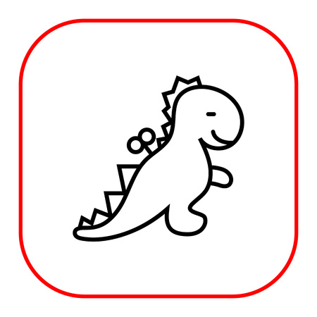 windup: Icon of windup dinosaur toy Illustration