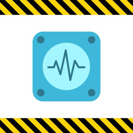 elettrocardiogramma: Icona di elettrocardiogramma Vettoriali