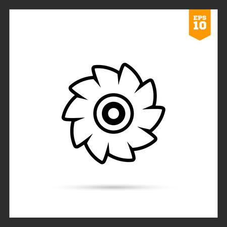 circular saw: Icon of circular saw disc