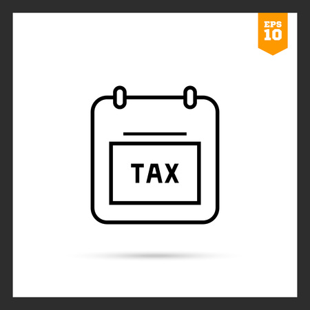 calendar page: Icon of calendar page with tax note