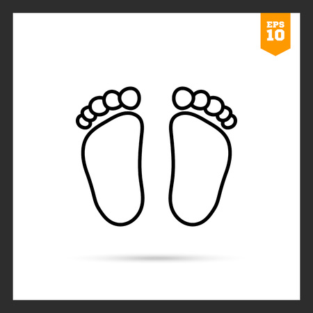 little girl feet: Baby footprints icon