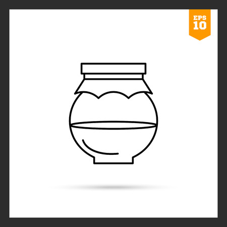 half full: Icon of half full jar with paper cover Illustration