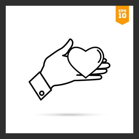 mercy: Icon of mans hand holding