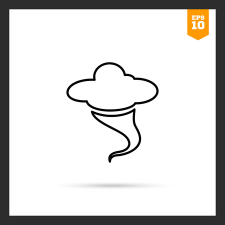funnel: Icon of cloud and hurricane funnel