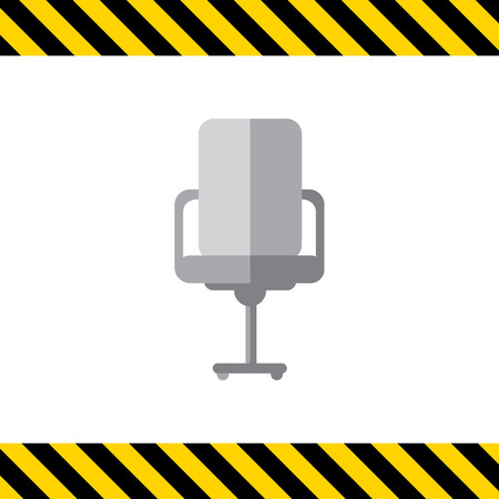 front view: Icon of office chair, front view Illustration