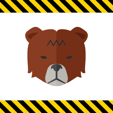 share prices: Icon of bears head as stock market trend Illustration