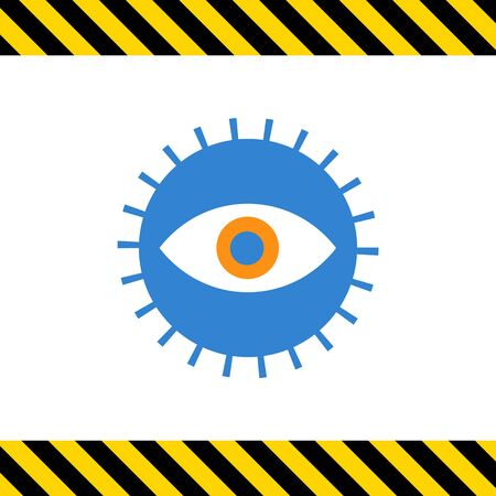 open eye: Icon of open human eye in circle