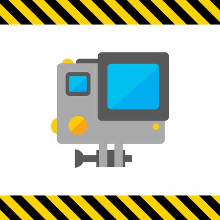 Icon of traffic speed camera in orange circle