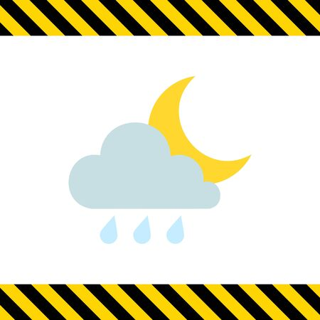 predict: Icon of cloud with raindrops and moon