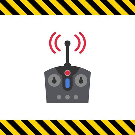 remote: Icon of radio remote control