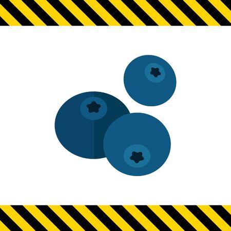ripe: Vector icon of three ripe fresh blueberries
