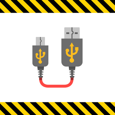 interconnect: Icon of USB to mini USB cable