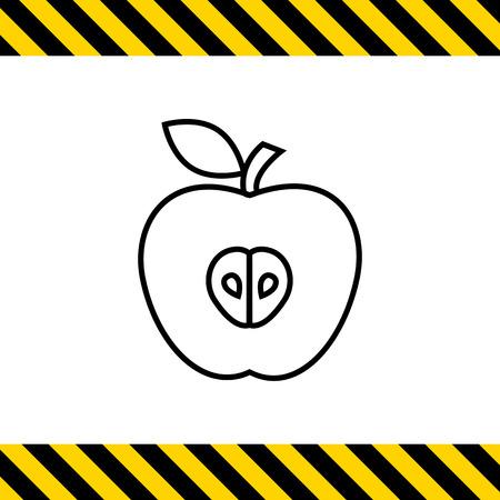 half: Icon of apple half