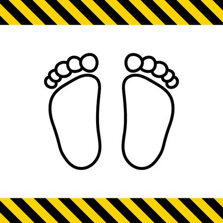 little girl feet: Baby footprints icon