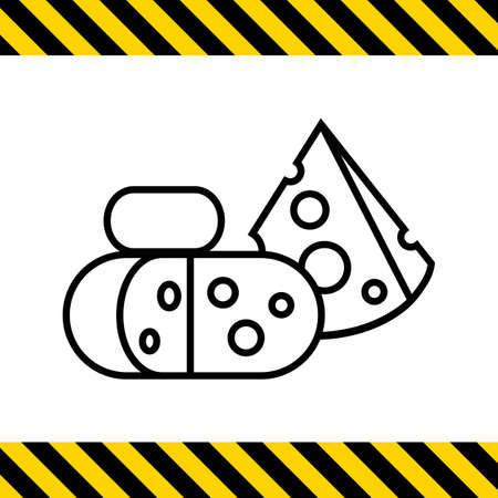 starter: Icon of cut cheese blocks Illustration