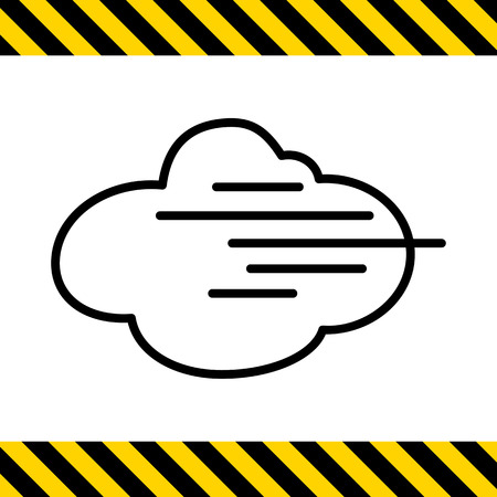 humid: Icon of cloud and fog sign