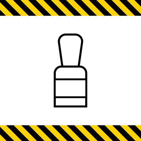 nail polish bottle: Icon of closed nail polish bottle Illustration
