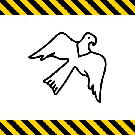 beine spreizen: Eagle-Symbol Illustration