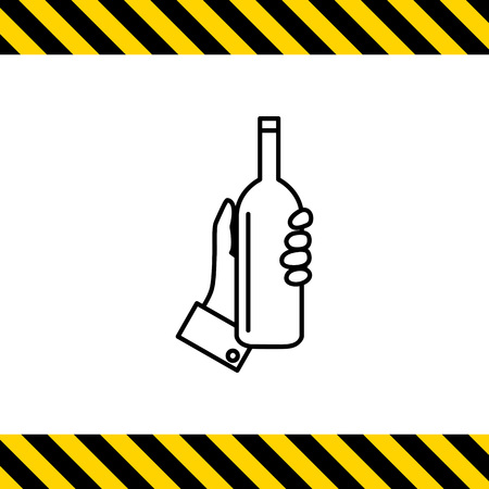 sommelier: Icon of human hand holding bottle