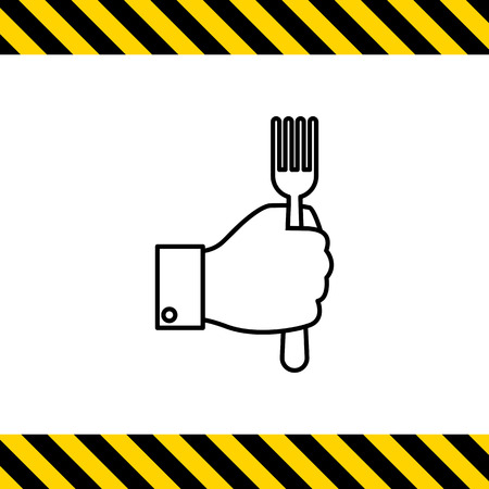caf: Icon of mans hand holding fork