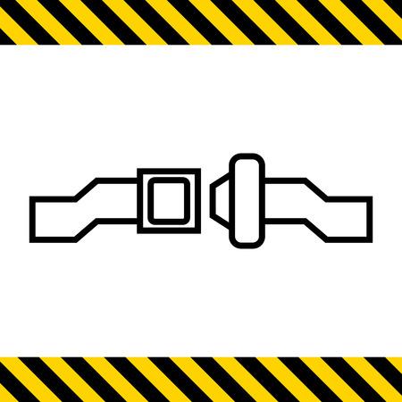 Icon of unlocked safety belt Vektorové ilustrace