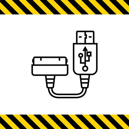 smartphone: Icon of smartphone charging plug Illustration