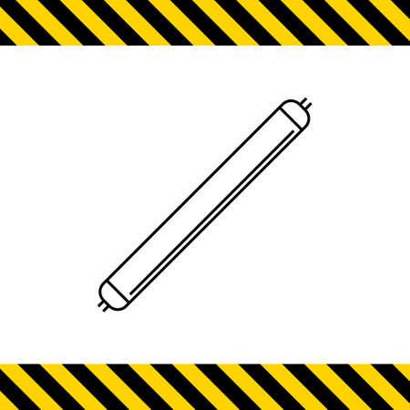 watt: Line icon of luminous tube lamp