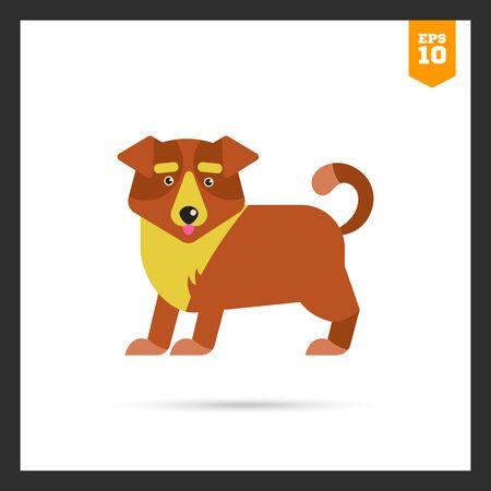 body guard: Multicolored icon of cute cartoon dog