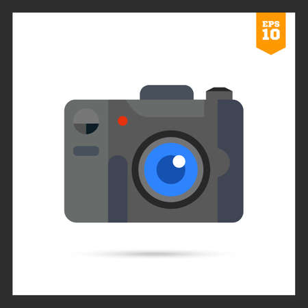 snapshot: Multicolored icon of digital snapshot camera