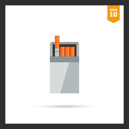 cigarette pack: icon of open cigarette pack Illustration