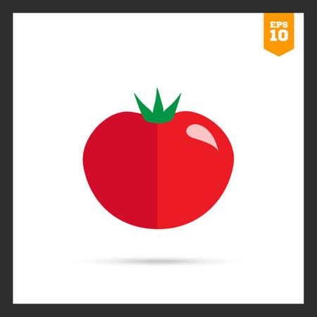 ripe: Multicolored icon of ripe red tomato