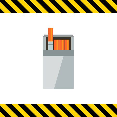 habit: Vector icon of open cigarette pack