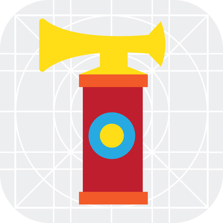 pneumatic: Multicolored vector icon of pneumatic air horn